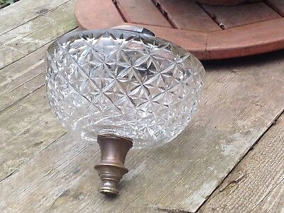 Antique Cut Glass Oil Lamp Font Absolutely Stunning Gorgeous Wow Wow