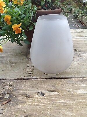 Very Old Frosted Glass Oil Lamp Shade Fantastic Style Amazing Wow