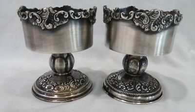 """Wallace Baroque Silver 3"""" Candle Holders (set of 2)"""