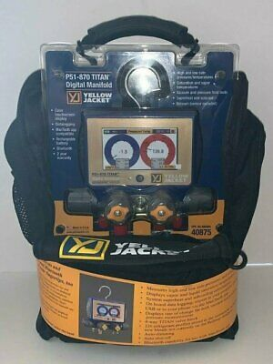 Yellow Jacket P51-870 Titan™ Digital Manifold 40875 w/ 5/16 Compact Valve Hoses