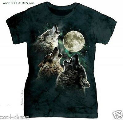 Bark at the Stars Night Moon T-Shirt / Tie Dye Tee;Wolves;Wolf;Nature
