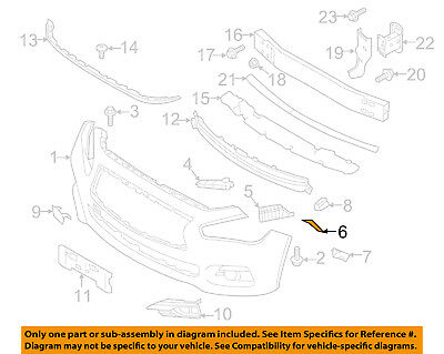 New Genuine Infiniti Bracket Front Bumper Side Rh 622263JA0A OEM