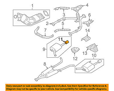 For 2015 Infiniti Q40 Exhaust Y Pipe Front Bosal 56835QY 3.7L V6