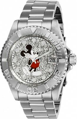 Invicta Disney Limited Edition Mickey Mouse Silver Dial Ladies Watch 27381