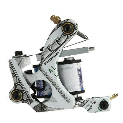 Nouveau Pro Tattoo Machine Shader Liner 10 Wrap bobines tatouage Instrument J6Y2