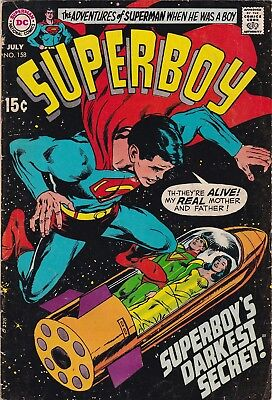 Superboy #158 (DC, 1969) Neal Adams cover / Wally Wood art /  VG-F