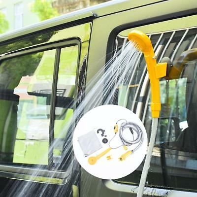 12V Portable Outdoor Automobile Car Shower Set Water Spray Pump Camping Carava
