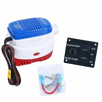 12V 750gph Automatic Submersible Boat Bilge Water Pump Auto/& Float Switch EAN