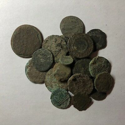 Lot of 20 Uncleaned/Semi Cleaned Ancient Roman Coins to Identify
