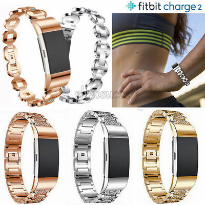 Ersatz Armband für Fitbit Charge 2 Strap Band Metall Edelstahl Armband