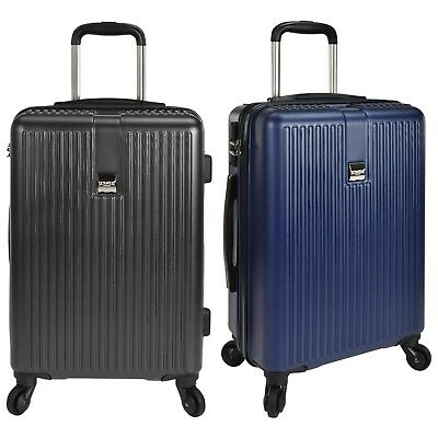 US Traveler Sparta Hardside Lightweight Carry-on Spinner Luggage Suitcase w/Lock