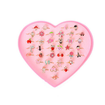 bb69eeb30 2X Fashion Adjustable Kids Sweet Alloy Ring Children Costume Jewelry Toy  Gift BR