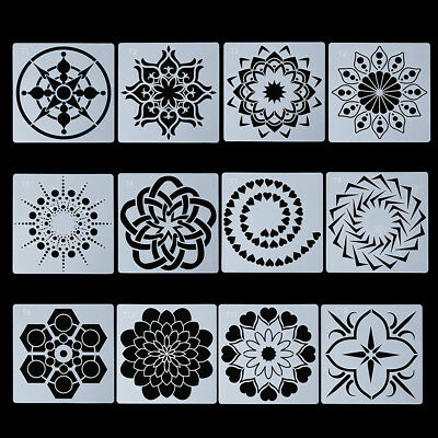 Decorative Mandala Auxiliary Painting template Scrapbooking Layering Stencils