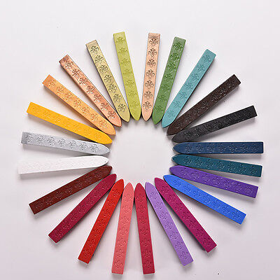 24 Colors Envelope Invitations Stamp Letter Cards Sealing Wax Sticks SP