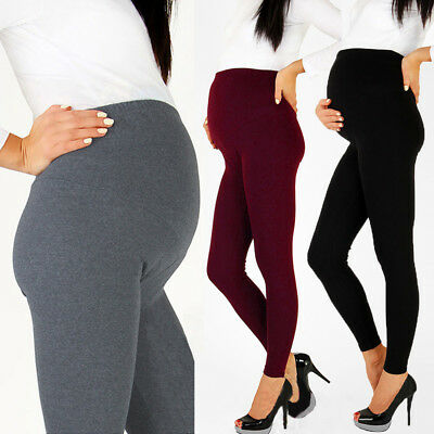 Maternity Winter Warm Pants Elastic Thermal Leggings Solid Thickened Trousers