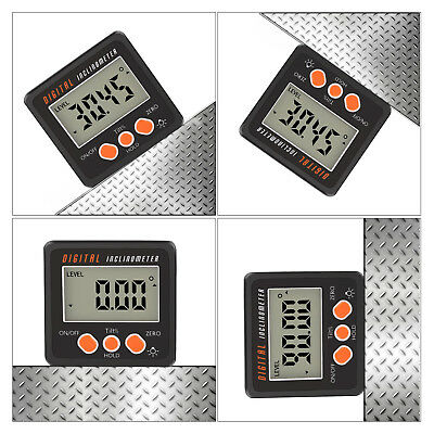 4x90° LCD Digital Inclinometer Electronic Protractor Bevel Box Angle Gauge Meter