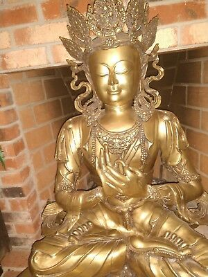 Beautiful Brass Buddha Statue, large, Very Ornate, Gorgeous, New