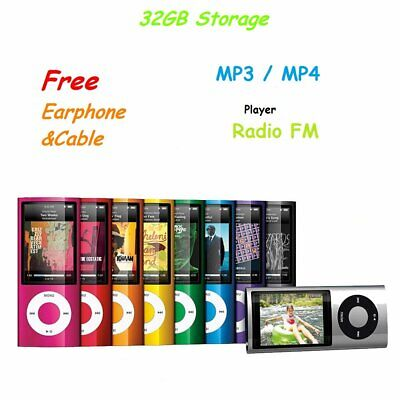 "iPod Style Built in 32GB 1.8"" LCD MP3 MP4 Music Video Media Player With FM Radio"