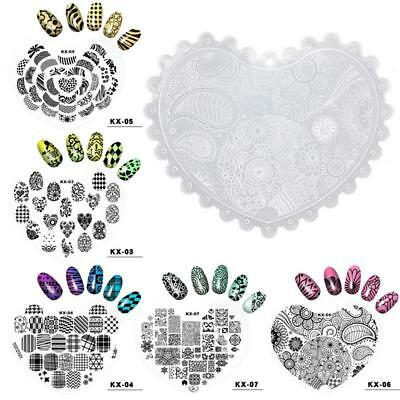 Nail Stamping Plates Image Plates Stencil Stamp Plastic DIY Nail Art Template---