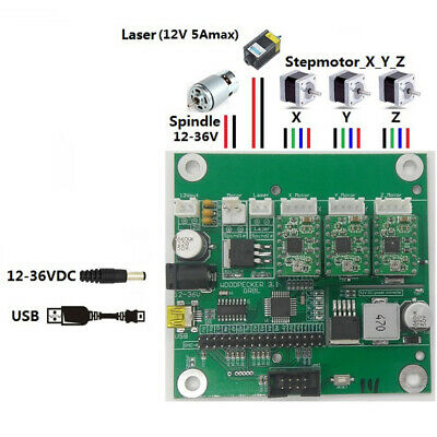 3 Axis CNC Router Machine Part Laser Engraver GRBL Control Board Controller Card
