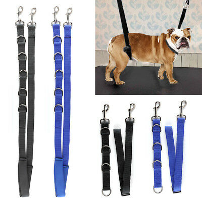 3 Pcs Pet Dog Grooming Harness Strap Noose Restraint Belly Pad Nylon 2 Colors