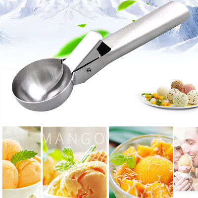 Kitchen Stainless Steel Ice Cream scoop Spoon for ice cream mash Potato spoon BH