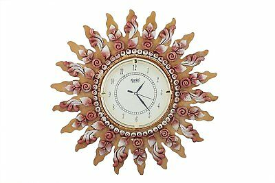 Antique Wooden Wall Clock Vintage Clock Sunflower Watch Xmas New Year Gift