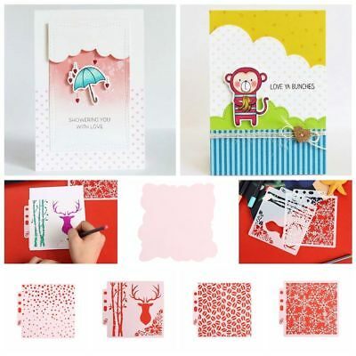 Hollow Layering Stencils Wall Painting Scrapbooking Stamp Paper Card Template--