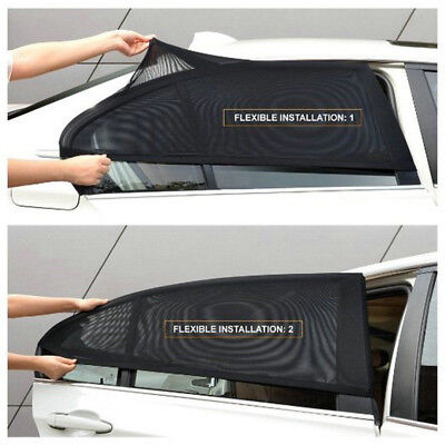 2Pcs Auto Car Rear Side Window Mesh Sun Visor Shade Cover Shield UV Protector---