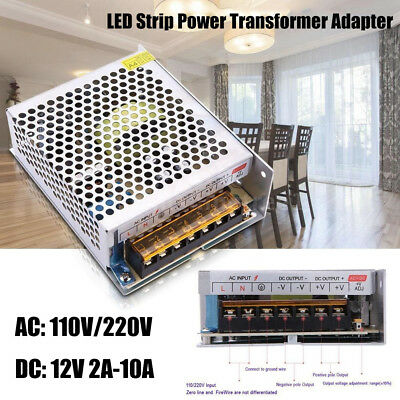 AC 110V-220V TO DC 12V Power Supply 2A 3A 10A 15A Lighting LED Driver Adapter