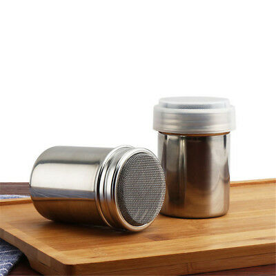 Stainless Steel Chocolate Shaker Icing Sugar Powder Cocoa Flour Coffee Sifter BR