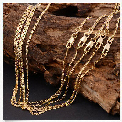 Wholesale 18-26inch 1x 18K Yellow GOLD Filled Rolo CHAIN NECKLACES For Pendant,