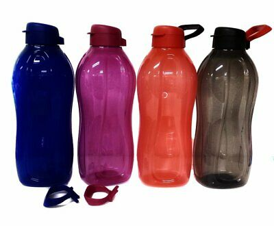 Tupperware Outdoor Eco Drink Water Bottle Flip Top 2L Aquasafe on The Go Limited