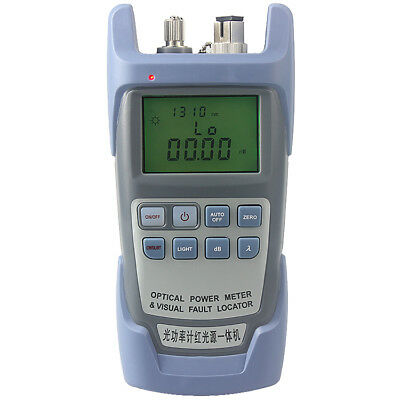 All-in-one PC Fiber Optic Power Meter 1mw 5km Laser Source Visual Fault Locator