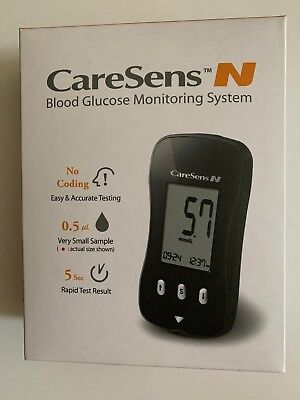 CareSens N Blood Glucose Monitoring System New With Batteries