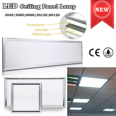 LED Ceiling Light Ultra Slim Suspended Flat Tile White Metal Frame Panel Lamp UK