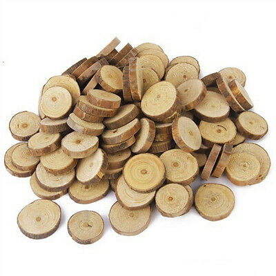 10X Round Wood Log Slices Discs for Wedding Centerpieces Table Decor DIY BH