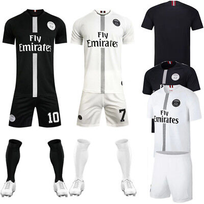 18/19 Football Short Sleeve Kits Kids Boy Outfit Club Jersey Full Kit With Socks