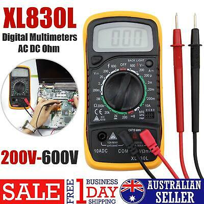 New Multi Tester Ohmmeter AC DC Voltmeter  LCD Digital Multimeter XL830L OZ