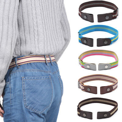Buckle-free Elastic Unisex Adjustable Invisible Belt For Jeans No Bulge Hassle.