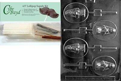 (+50 Sticks/Bags) - Cybrtrayd Girl Communion Lolly Chocolate Candy Mould with