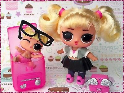 LOL Surprise Hairgoals Big+Lil Oops Baby Hair Goal Spears CC Sisters~2 Dolls Lot