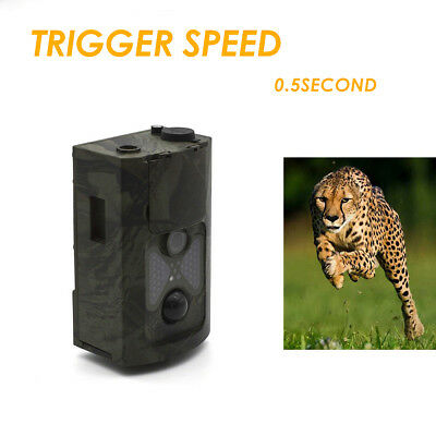 16MP 1080P HD Video Hunting Camera Waterproof Night Vision 22 LED Trail Cam Trap