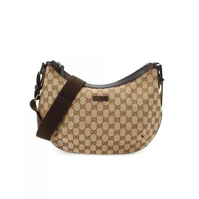 a4642a0dcb7a49 Gucci Crescent Half Moon Monogram Gg Hobo Messenger Brown Cross Body Bag  231938