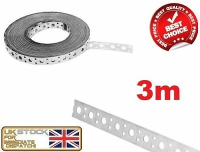 ENGINEERS FIXING BAND STEEL METAL PUNCHED PERFORATED STRIP STRAP 3m x 20 x 1mm