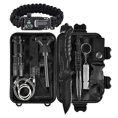Emergency Survival Kit 11 in 1, Outdoor Survival Gear Tool with Survival Brac Z2
