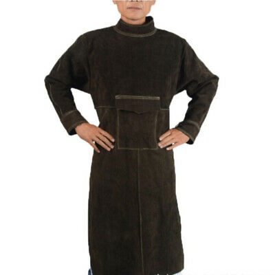 Heavy Duty Adjustable Leather Welding Apron Protective Work Coat Clothes