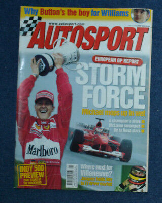 Autosport 25th May 2000 Schumacher wins European GP, Indianapolis 500 preview