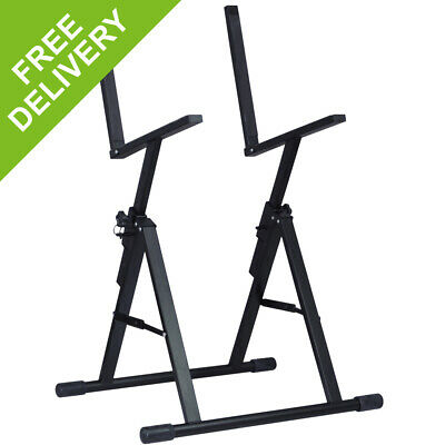 Black Adjustable Guitar Amp Monitor Speaker Stand with Lock
