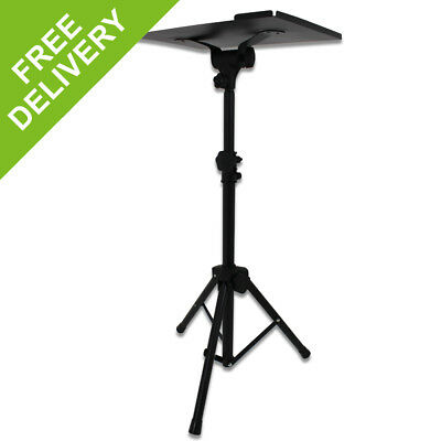 Black Adjustable Portable Tripod Laptops Mixers Stand